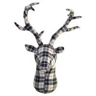 plaid-felt-stag-head