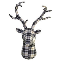 plaid-felt-stag-head