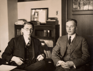 C._H._Best_and_F._G._Banting_ca._1924