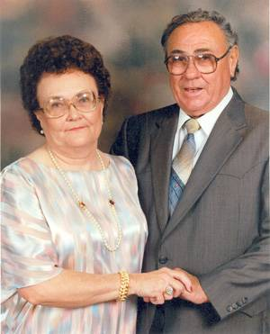 The late Bessie Kruse and husband Frank.